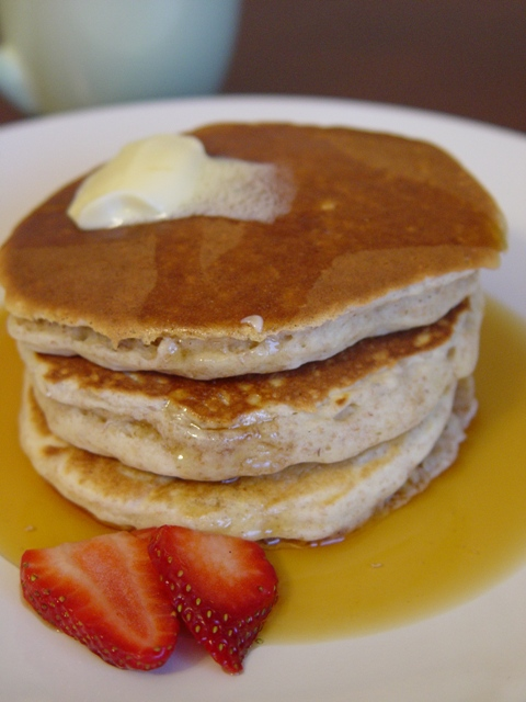 picture of oatmeal pancakes - pancake tuesday