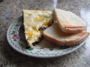 Picture of ham and cheese omelette - leftover ham recipes
