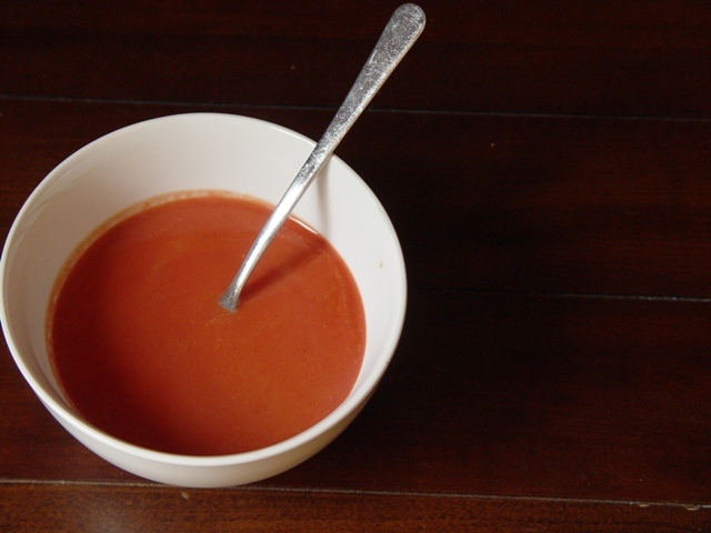 Large picture of carrot and beet soup