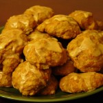 picture of a plate of pumpkin cookies