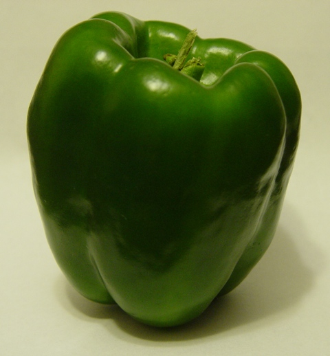 Picture of a green pepper (0 on Scoville Scale)