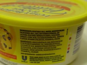 picture of ingredient list containing calcium sodium edta