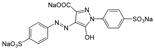 Chemical composition of tartrazine