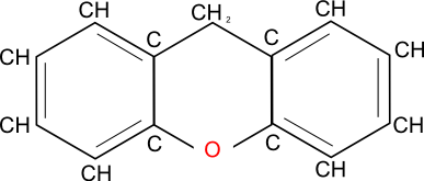 picture of a xanthene molecule