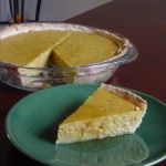 Picture of a Slice of Squash Pie