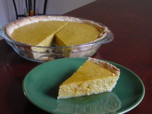 Pie made with three step pastry