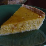 Picture of a slice of Maple Roasted Pepper Squash Pie