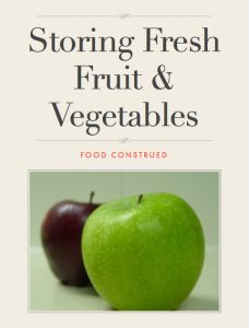 Storing Fresh Fruit and Vegetables Book Cover