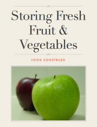 Storing Fresh Fruits and Vegetables Book Cover