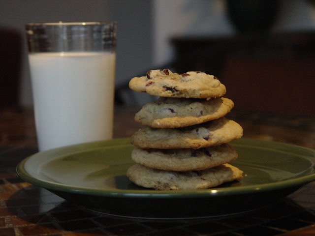 photo of chocolate chip cookies and milk (cookie ingredients)