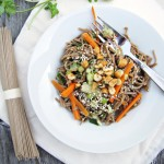 A Summer Dinner: Cold Sesame Noodles with Veggies | Katie at the Kitchen Door