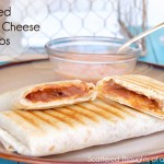 Scattered Thoughts of a Crafty Mom: Grilled Bean and Cheese Burritos