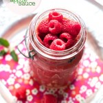 Homemade Raspberry Applesauce Recipe | FamilyFreshCooking.com | © MarlaMeridith.com — Family Fresh Cooking