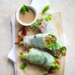 Bacon Lettuce and Tomato BLT Spring Roll Recipe