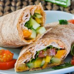 Turkey, Hummus and Veggie Wrap - Jo Cooks