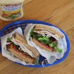 Turkey Bacon Tomato Cheese and Avocado Sandwich with Spicy Ranch Dressing - Lynn's Kitchen Adventures