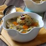 Slow Cooker Turkey and Stuffing Dumpling Soup | Baked by Rachel