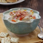 Slow Cooker Turkey and Potato Chowder | Baked by Rachel