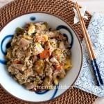 Leftover turkey fried rice -