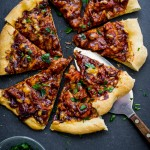 BBQ Turkey Pizza Recipe with Leftover Thanksgiving Turkey