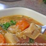 Turkey Rice Soup Recipe | Quick German Recipes