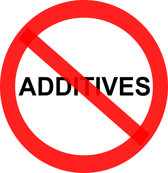 Red Line through words Food Additives