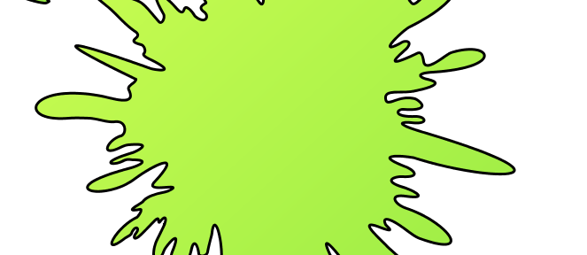 picture of a yellow-green splash - quinoline yellow